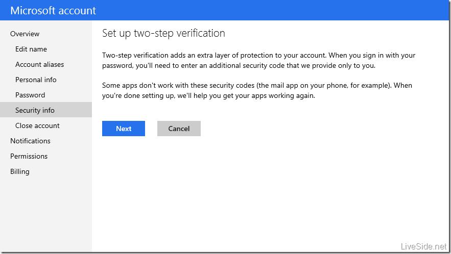 Włączanie dwuetapowej weryfikacji konta Microsoft