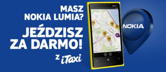 Lumia - jeździsz za darmo z iTaxi