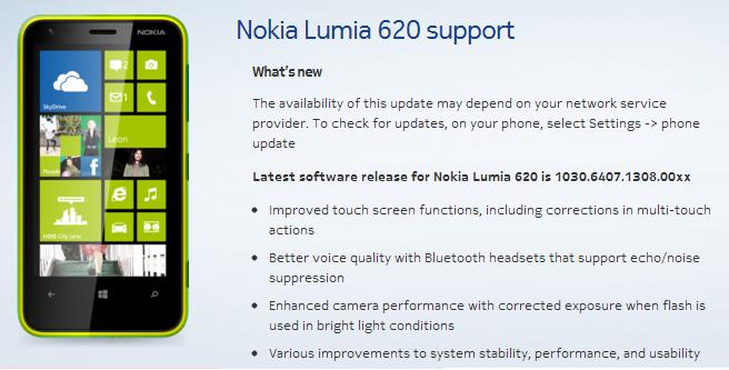 Nokia Lumia 620 - aktualizacja oprogramowania GDR2