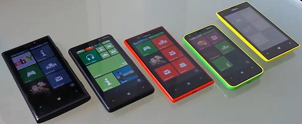 Porównanie telefonów Nokia Lumia 520, 620, 720, 820 oraz 920