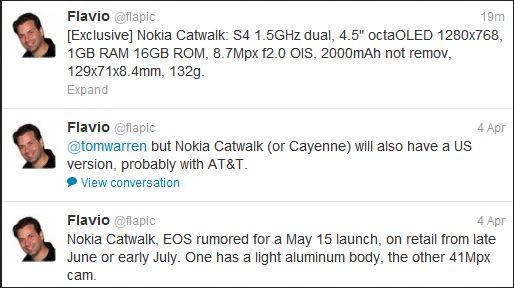 Nokia Catwalk i Nokia EOS Twitter