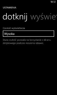 Wyświetl+dotknij Nokia Lumia Windows Phone 8