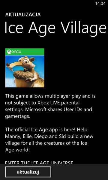 Ice Age Village 1.1.0.0 Windows Phone 8 - aktualizacja