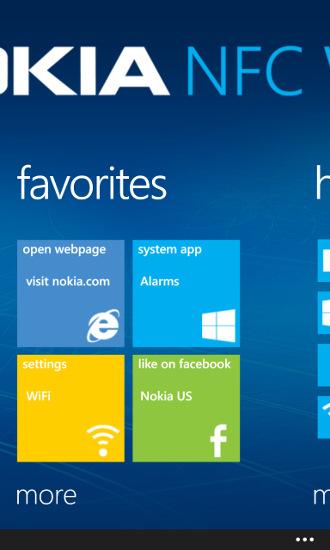Nokia NFC Writer - ulubione tagi