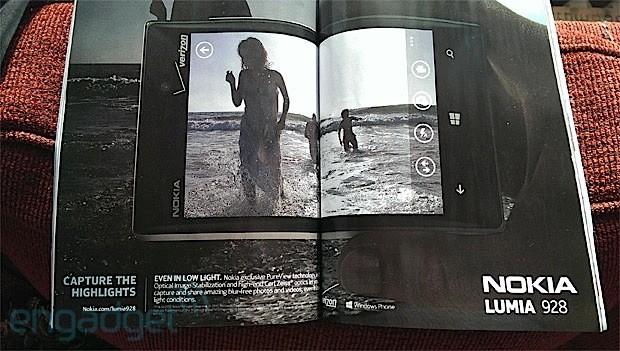 Nokia Lumia 928 w gazecie Vanity Fair
