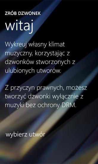 Zrób dzwonek - Nokia Lumia WP8