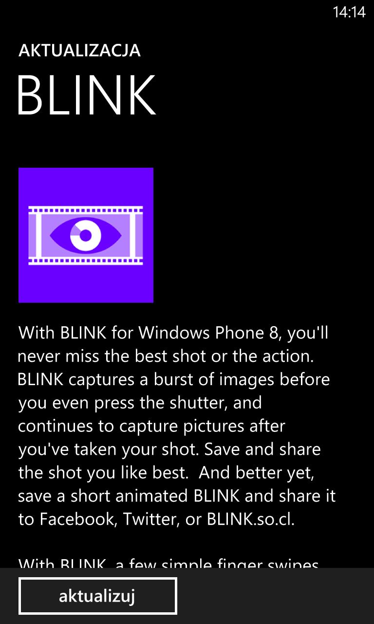 Aktualizacja Blink 2.0