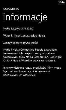 Nokia Muzyka 3.10.822.0 - Nokia Lumia Windows Phone