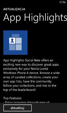 App Highlights Social Beta 1.2.4.0