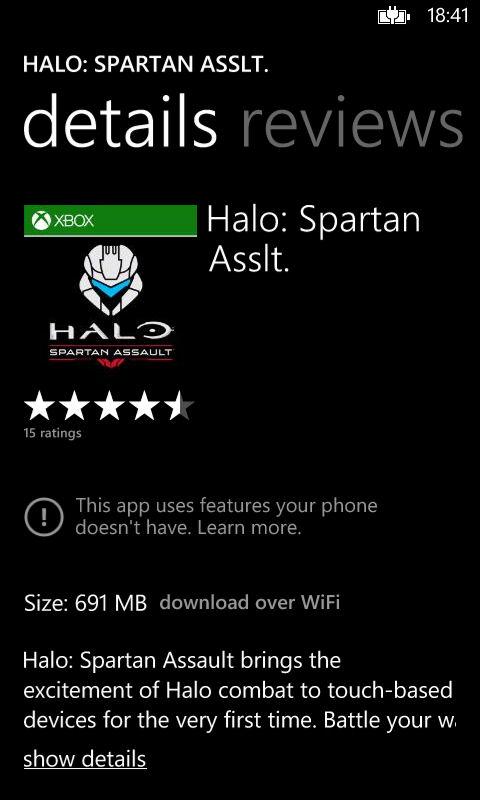 Halo: Spartan Assault wymaga 1GB pamięci RAM