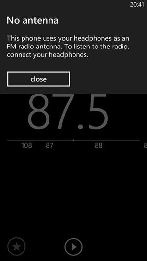 HTC 8X - oprogramowanie GDR w wersji 8.0.10327.77 - radio FM