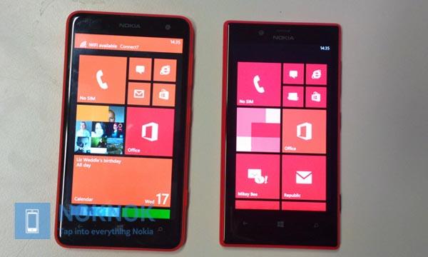 Porównanie rozmiarów telefonów - Nokia Lumia 625 i Nokia Lumia 720