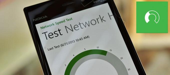 Network Speed Test - Windows Phone