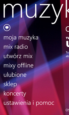 Nokia Muzyka 3.11.25.0 - Nokia Lumia WP8
