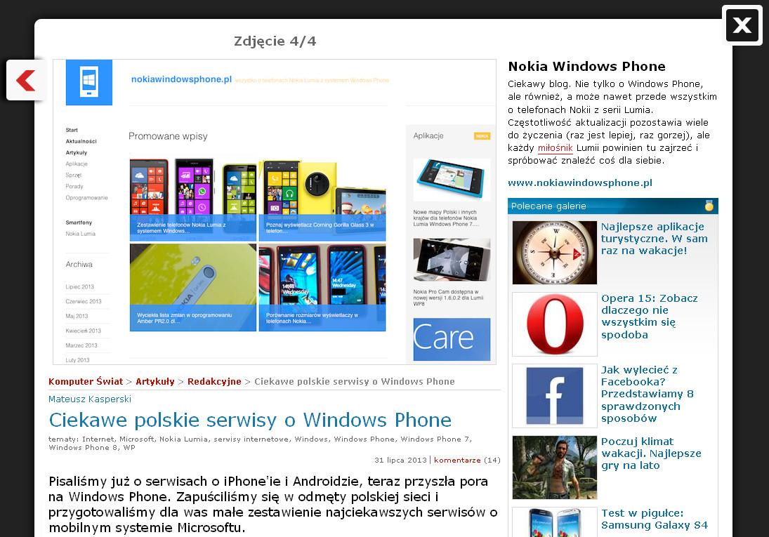NokiaWindowsPhone.pl w KomputerSwiat.pl