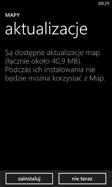 Aktualizacja map HERE dla telefonów Nokia Lumia Windows Phone 8
