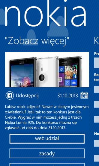 Nokia Konkursy - Nokia Lumia 925