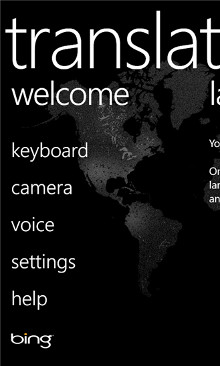 Bing Translator - Windows Phone 8