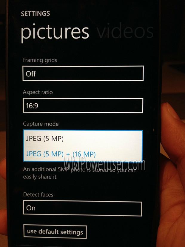 Nokia Lumia 1520 - ustawienia aparatu