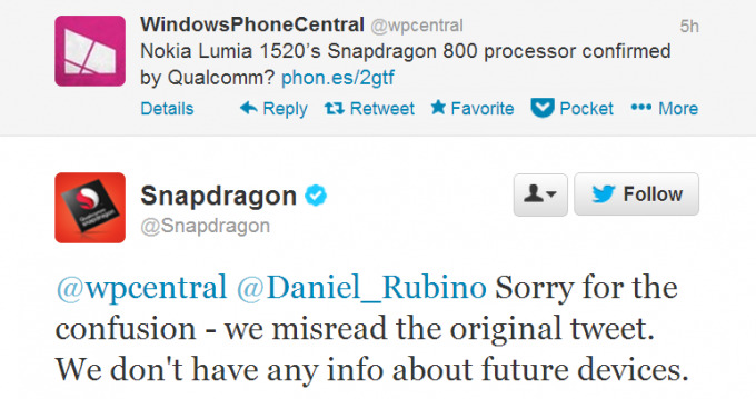 Nokia Lumia 1520 - Snapdragon 800