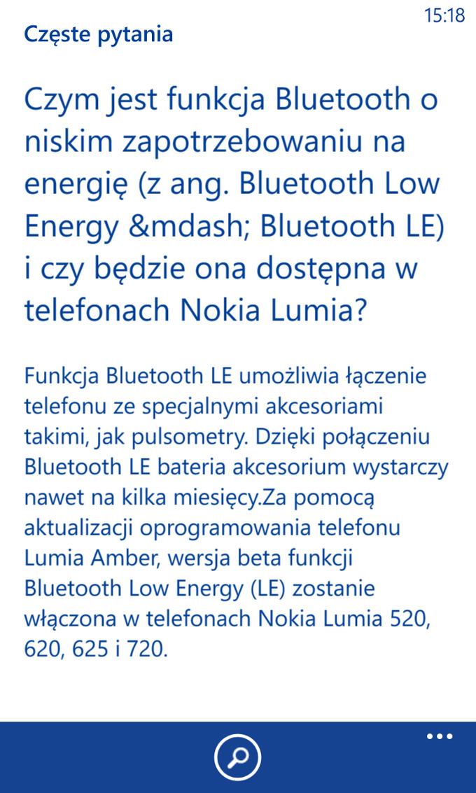 Bluetooth Low Energy - Nokia Care