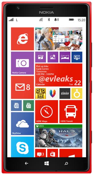 Czerwona Nokia Lumia 1520