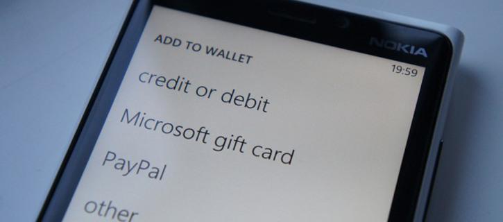 Rodzaje płatności w sklepie Windows Phone