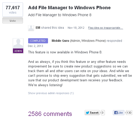 Add file manager to Windows Phone - uservoice