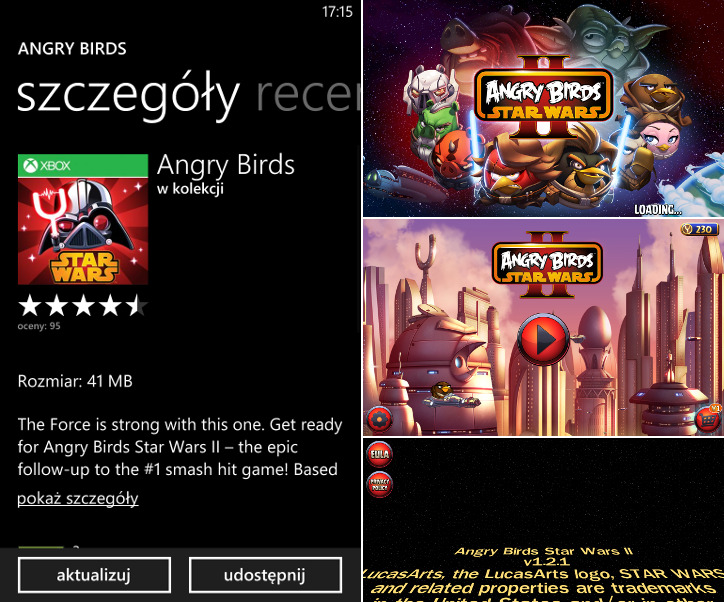Angry Birds Star Wars II Windows Phone
