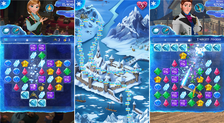 Frozen Free Fall - Kraina lodu dla Windows Phone