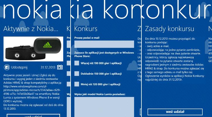 Nokia Konkursy - Adidas HRM2 & strap