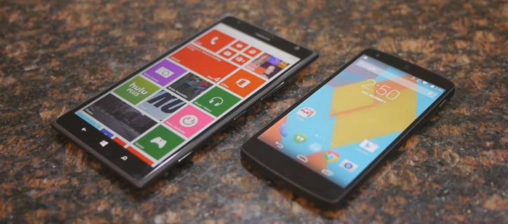 Nokia Lumia 1520 vs Nexus 5