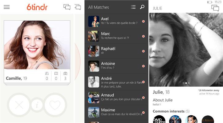 6tindr - klient sieci Tinder dla Windows Phone