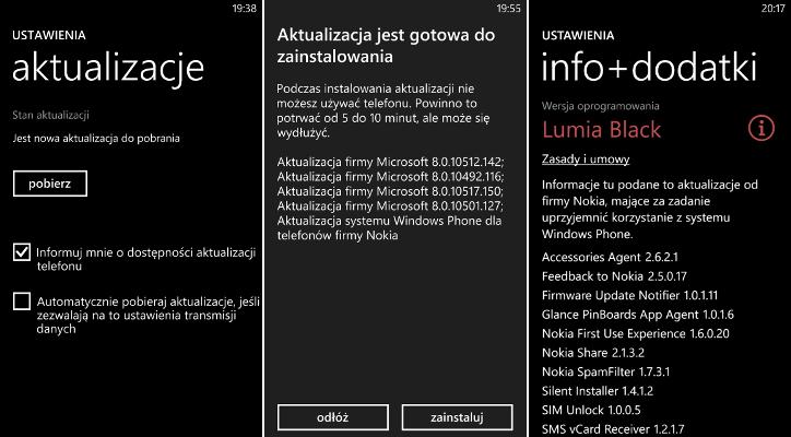 Aktualizacja Lumia Black na telefonie Nokia Lumia 925