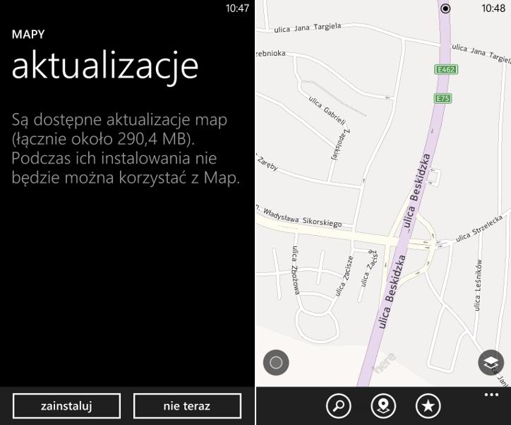 Aktualizacja map Windows Phone 8 wersja 8.30.53.110