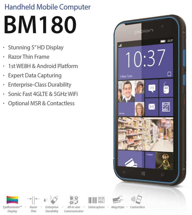 Bluebird BM180 - Android i Windows Phone