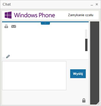 Chat pomocy technicznej Windows Phone