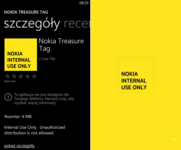 Aplikacja Nokia Treasure Tag w Sklepie Windows Phone