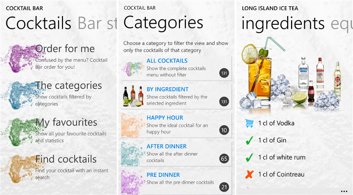 Cocktail Bar - drinki i koktajle dla Windows Phone