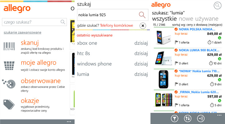 Allegro dla Windows Phone