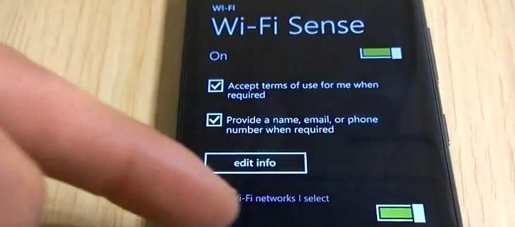 Ustawienia Wi-Fi Sense w Windows Phone 8.1