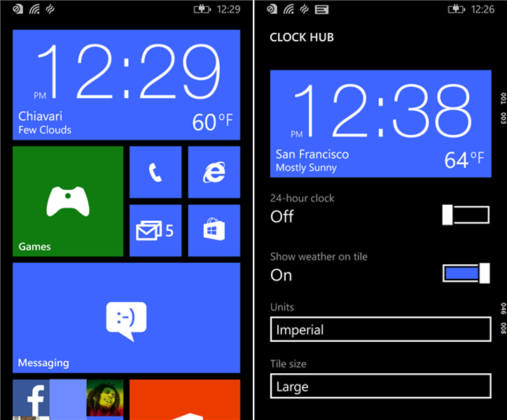 Clock Hub Windows Phone