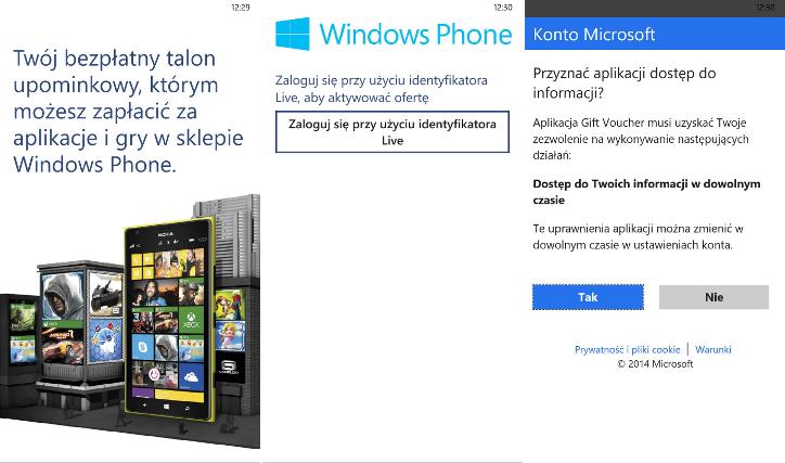 Gift Voucher - talon upominkowy 100zł dla Nokia Lumia