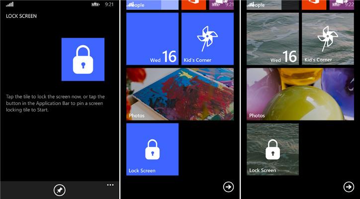Simple Screen Locker Windows Phone
