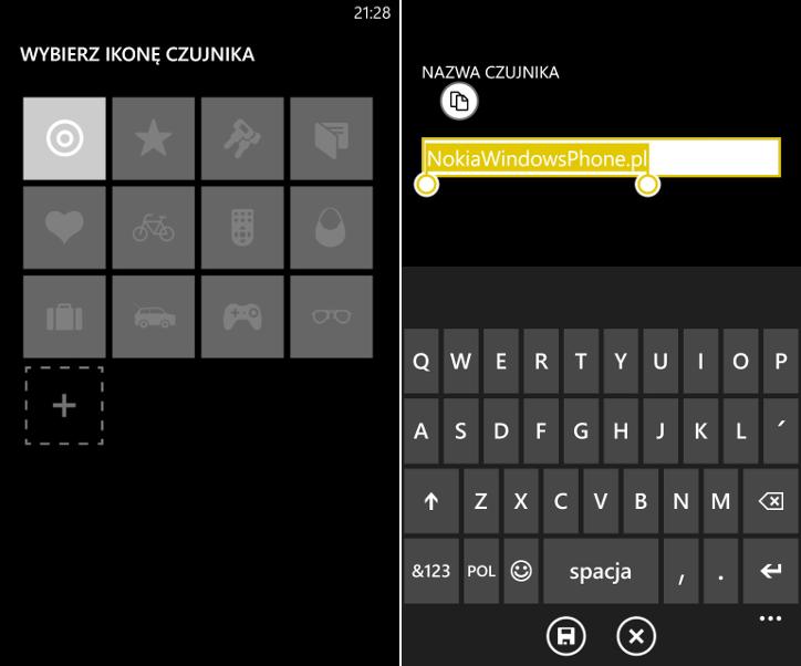 Personalizacja lokalizatora Nokia Treasure Tag
