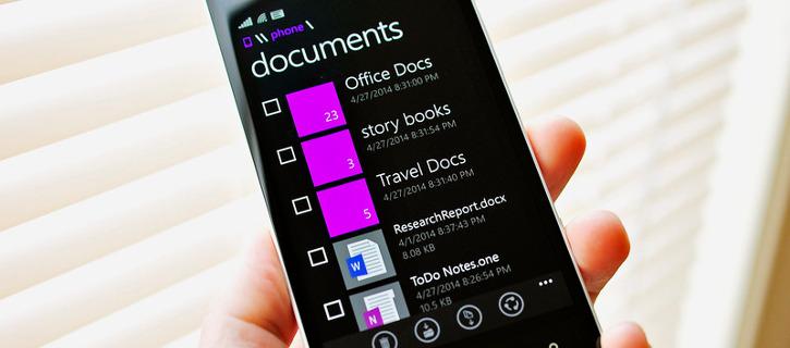 Menedżer plików Pliki - Microsoft dla Windows Phone