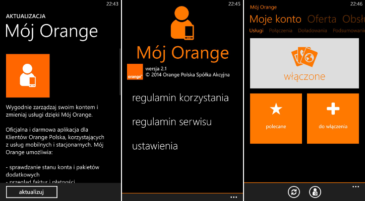 Mój Orange dla Windows Phone