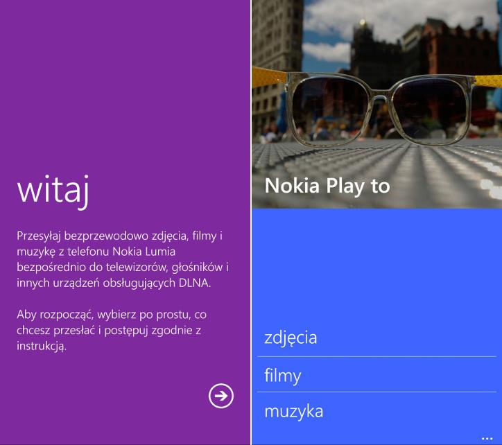 Nokia Play to - Nokia Lumia Windows Phone 8.1