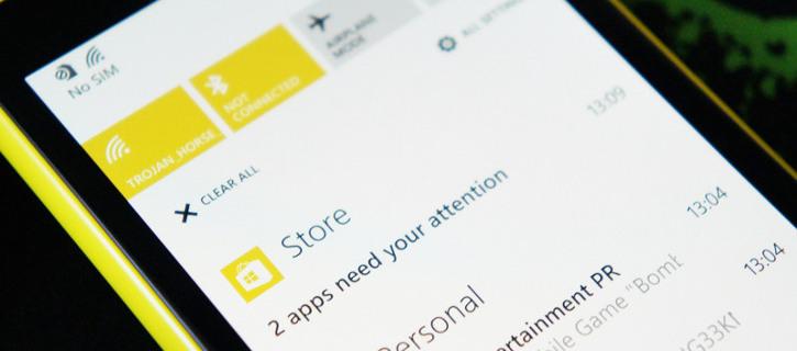 Centrum powiadomień Windows Phone 8.1