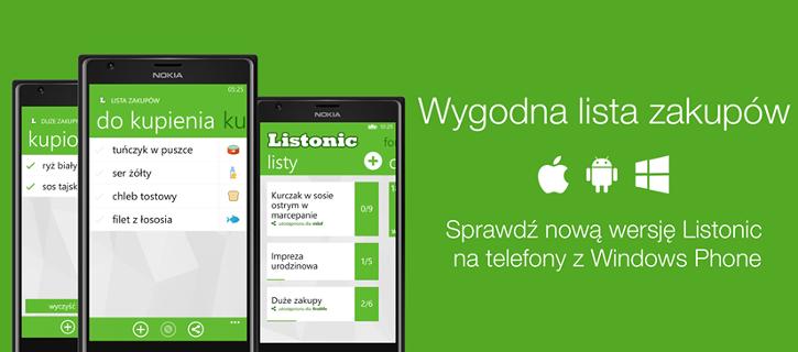 Listonic Windows Phone